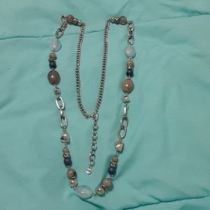 Extra long accent necklace
